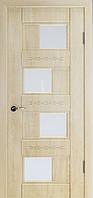 Міжкімнатні двері Неман зі склом СВІТАНА 3D Н-26, дуб пісочний