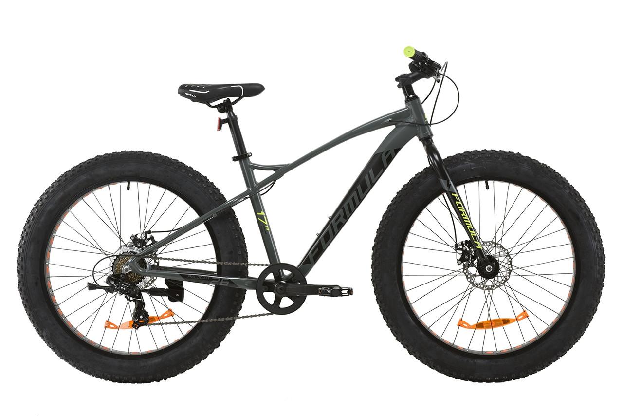 """Велосипед AL 26"""" Formula PALADIN DD 2020 (серо-салатный (м))"""