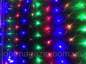 Гирлянда Сетка силиконовая разноцветная 2×2 метра
