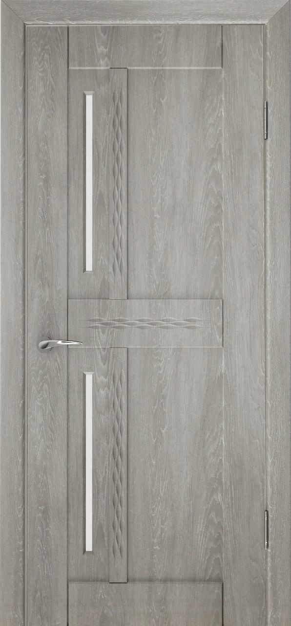 Міжкімнатні двері Неман зі склом МАЛЬТА 3D Н-27, дуб пасадена