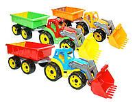 Технок Трактор с ковшом и прицепом 3688