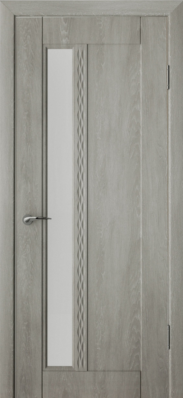 Міжкімнатні двері Неман зі склом ЗОРЯНА 3D Н-28, дуб пасадена
