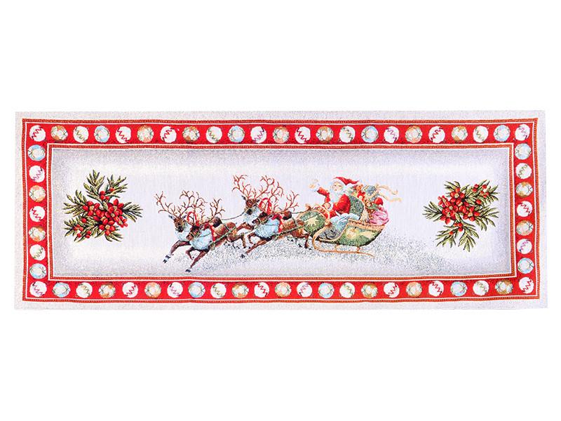 Раннер гобеленовый новогодний с люрексом 40х100 см, Lefard, 716-005