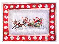 Салфетка под тарелку гобеленовая новогодняя с люрексом 35х45см, Lefard, 716-006
