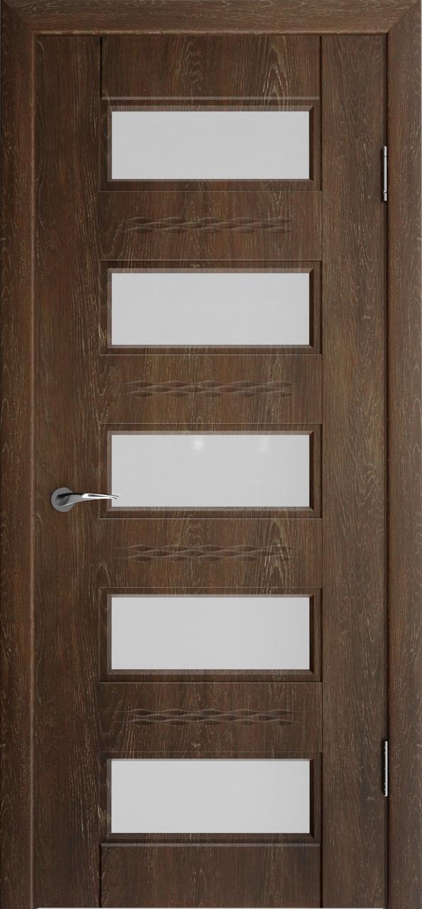 Міжкімнатні двері Неман зі склом СОЛОМІЯ 3D Н-29, дуб шато