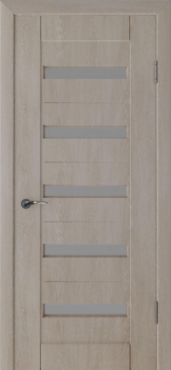 Міжкімнатні двері Неман зі склом ПЕРСЕЙ Н-30 дуб ґрей