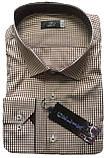 Мужская рубашка Gelix 1207004 в клетку коричневая, фото 5