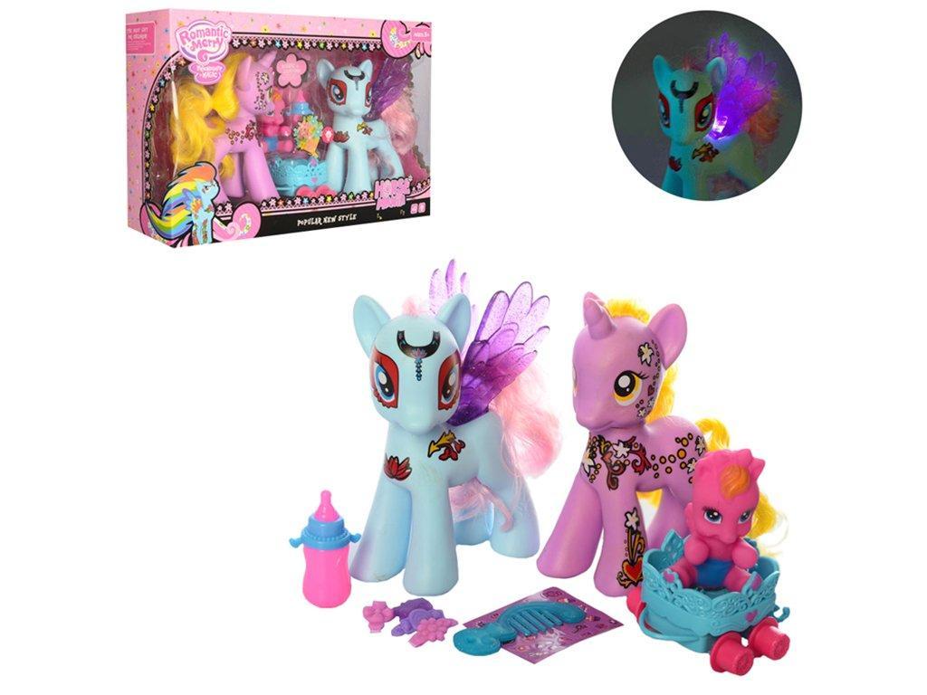Игрушка лошадка Pony  с аксессуарами 3шт