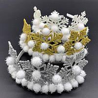 Корона Снежинка с шариками