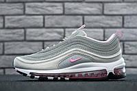 Кроссовки женские Nike Air Max 97 Grey Pink/Silver - Найк Аир Макс 97 серые