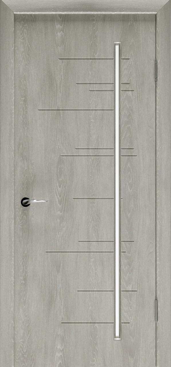 Міжкімнатні двері Неман зі склом ФОРТЛАЙН Н-34 дуб пасадена