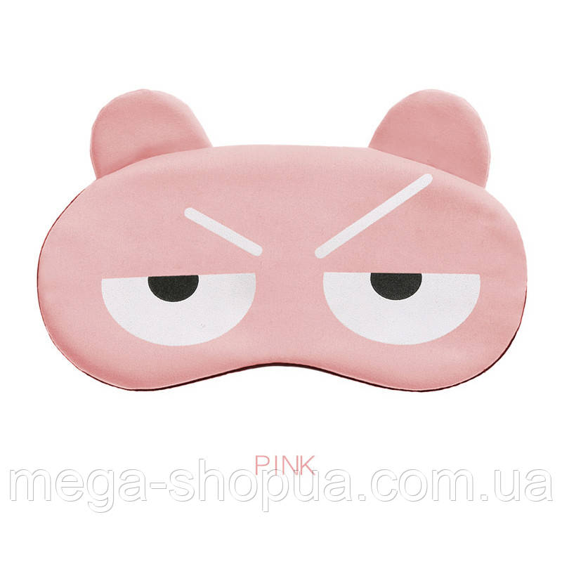 "Маска для сна и отдыха ""Mood Pink"". Повязка для сна и релакса. Ночная маска на глаза для сна. Маска для сну"