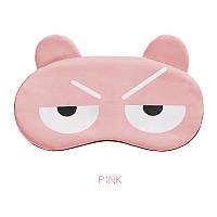 "Маска для сна и отдыха ""Mood Pink"". Повязка для сна и релакса. Ночная маска на глаза для сна. Маска для сну, фото 1"