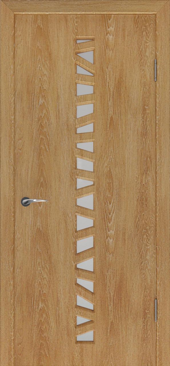 Міжкімнатні двері Неман  зі склом САФАРІ Н-35 дуб янтарний