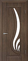 Міжкімнатні двері зі склом Неман САБРІНА Н-38 горіх шоколадний