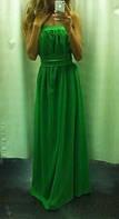 Платье в пол с широкой резинкой на груди, фото 1
