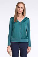 Блуза женская зеленого цвета с длинным рукавом. Модель U02 Sunwear