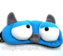 "Маска для сна и отдыха ""Big Eyes - Blue"". Повязка для сна и релакса. Ночная маска для сна. Маска для сну"
