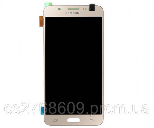 "LCD Samsung J510, J5 2016 + Touchscreen (gold) ""High Copy""+ підсвітка"