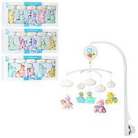 Детская музыкальная карусель на кроватку D124-5-6-7 игрушки для малышей