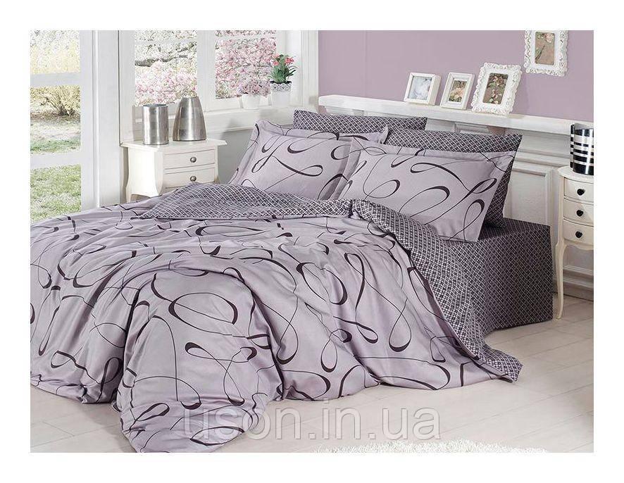 Комплект постельного белья сатин First Choice Calisto gri