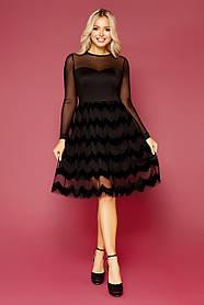 Красивое вечернее платье черного цвета  Размеры S, M, L, XL