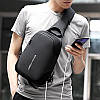 Рюкзак с одной лямкой Mark Ryden Mini Secret MR7056 Black, фото 6