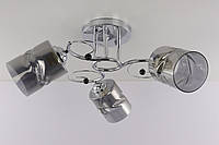 Люстра потолочная на 3 лампочки (22х48х48 см.) Хром или золото YR-7290/3A-ch