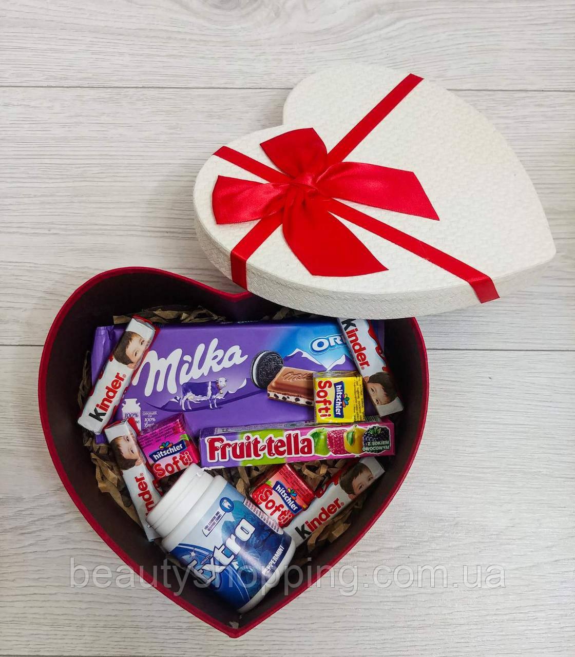 """Подарочный набор сладостей Сердце """"размер M"""""""