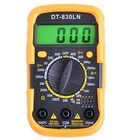 Цифровий мультиметр тестер UK-830LN в комплекті щупи і батарейка мультиметр з кроною