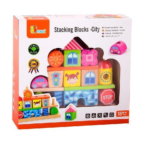 """Набір кубиків Viga Toys """"Місто"""" (50043)"""