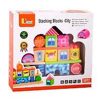 """Набір кубиків Viga Toys """"Місто"""" (50043), фото 1"""