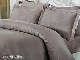 Комплект постельного белья Nazenin Bamboo Saten Серо-коричневый