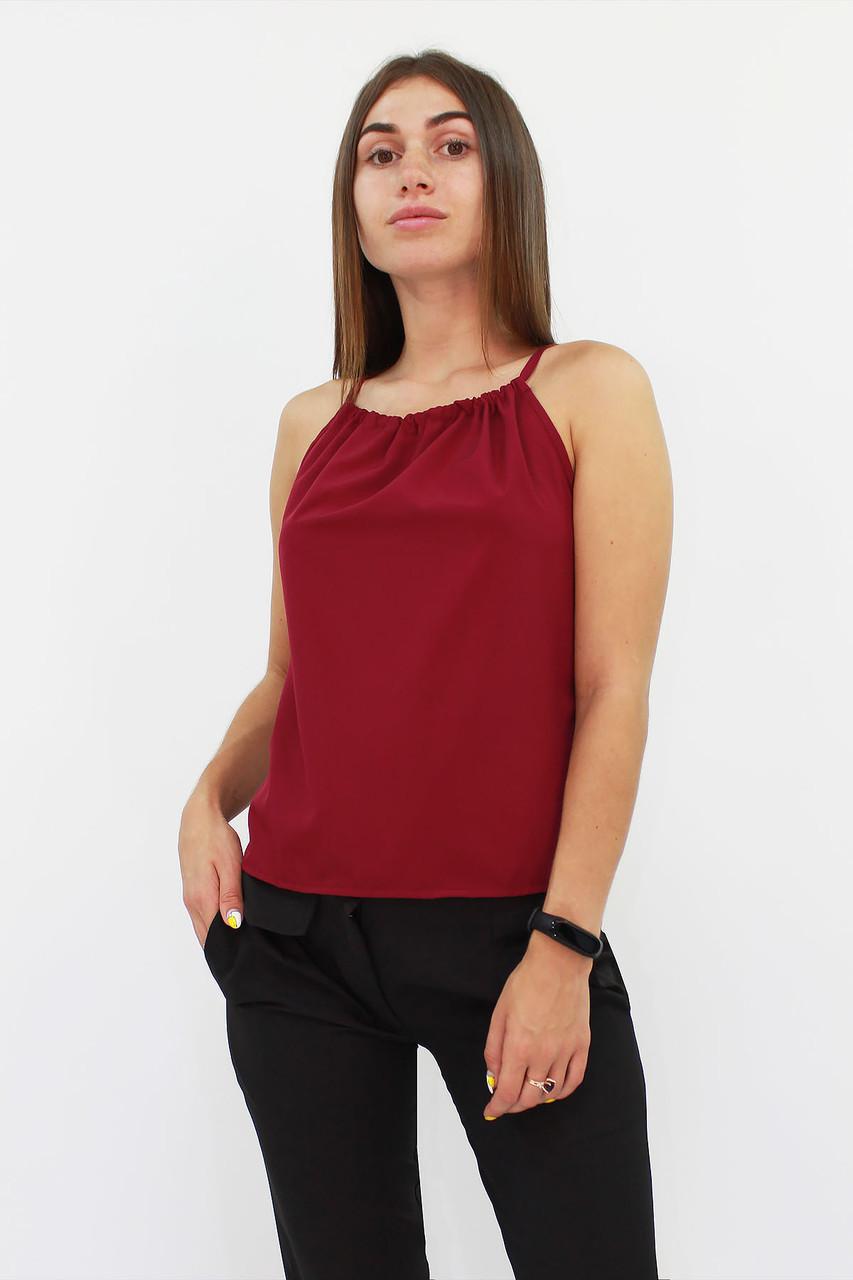 S, M, L / Стильний жіночий топ Fraidy, бордо
