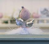 Декоративная новогодняя статуэтка Ангел h7см розовый Гранд Презент 1016569-2 сердечный, фото 2
