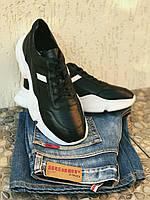 Кроссовки мужские из натуральной кожи. Качественные модные. 40