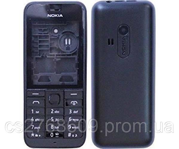 """Корпус """"АAA-клас"""" Nokia 220 black + клавіатура"""