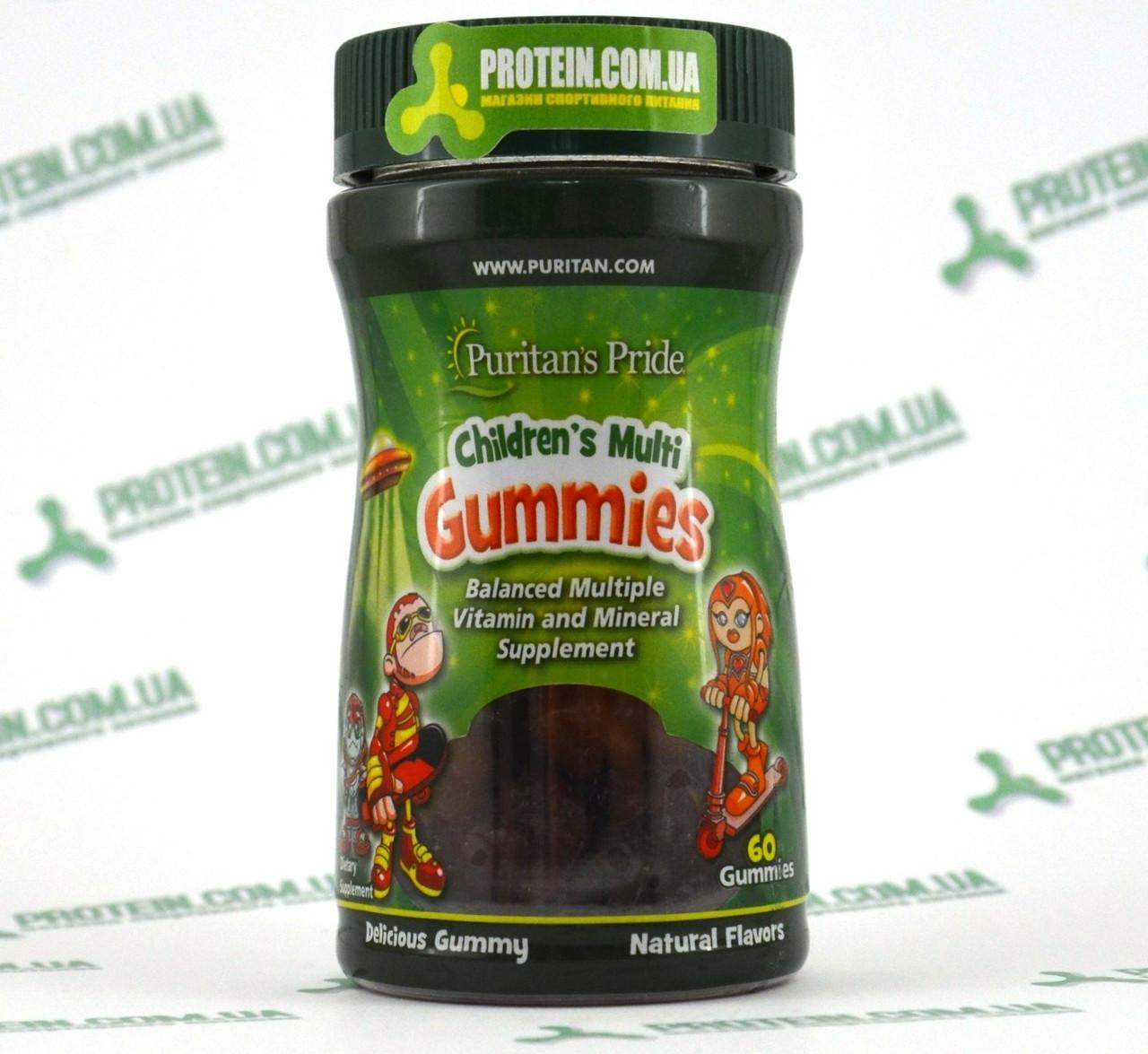 Витамины Детские Puritans Pride Сhildren`s Multi Gummies 60 жевательных мишек