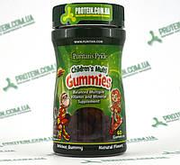 Витамины Детские Puritans Pride Сhildren`s Multi Gummies 60 жевательных мишек, фото 1