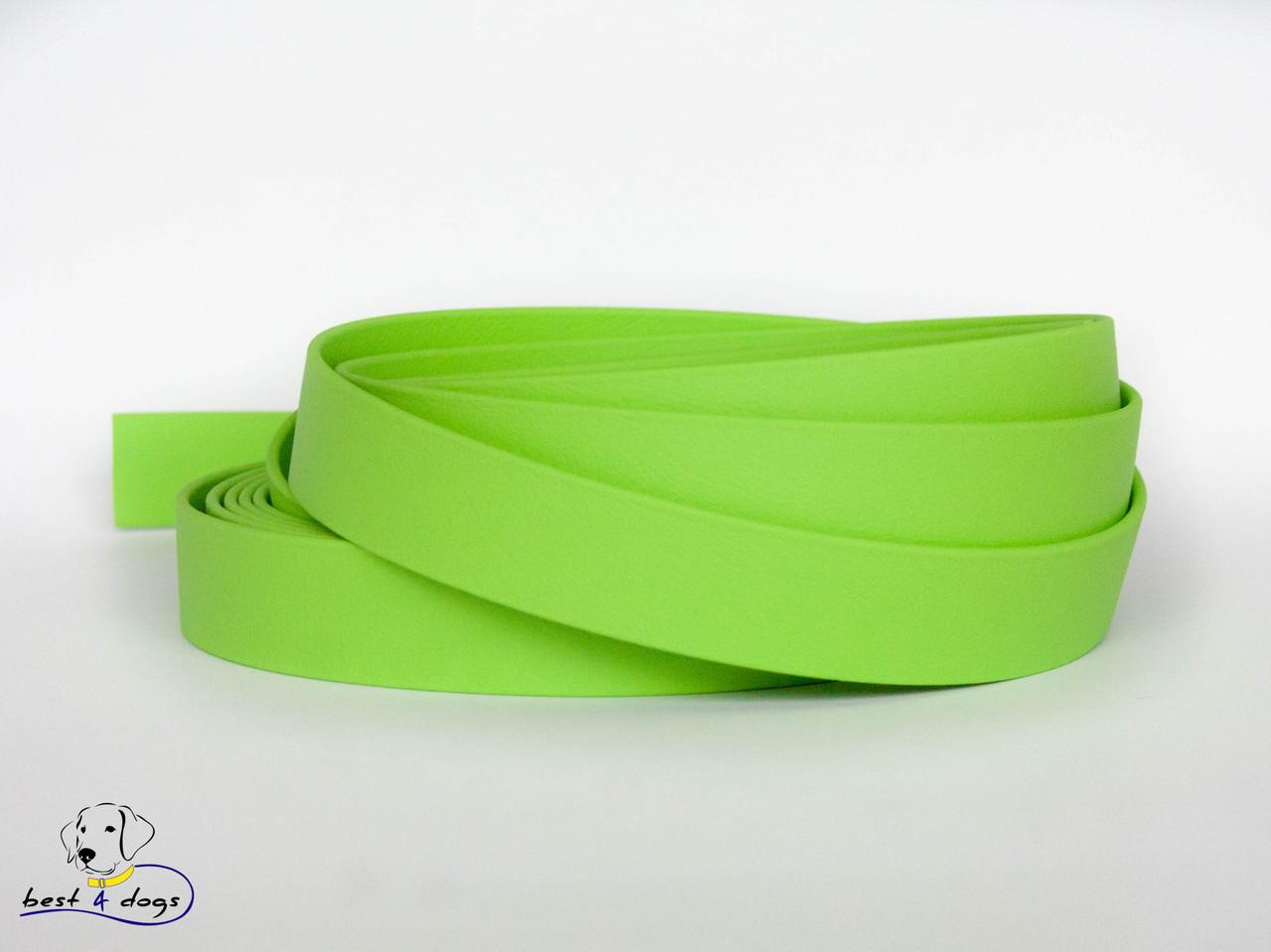 Ошейник-удавка из биотана, Зеленый Яблоко, 16мм