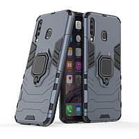 Чехол Ring Armor для Samsung M305 Galaxy M30 / A40s Синий