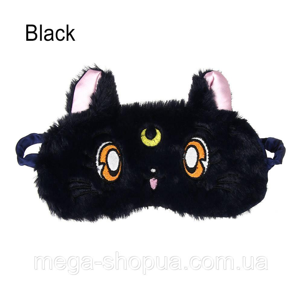"""Маска для сна """"Cute Kitten - Black"""". Удобная и милая маска для сна"""