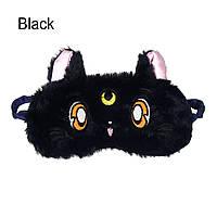 "Маска для сна ""Cute Kitten - Black"". Удобная и милая маска для сна, фото 1"