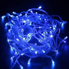 Гирлянда нить светодиодная на 200 ламп синего цвета 11 м