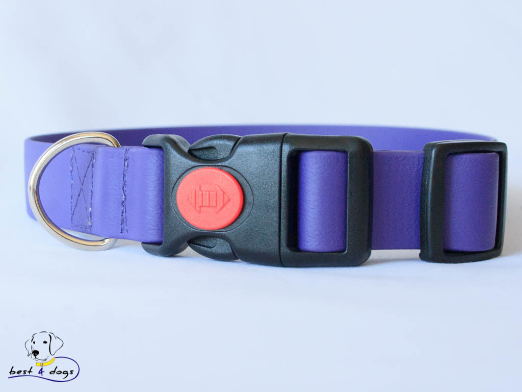Ошейник из биотана, Фиолетовый, 16мм(пластик.фастекс)