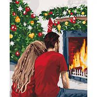 """Картина по номерам / рисунок по номерам """"Рождественская романтика"""" ★★★  sco"""
