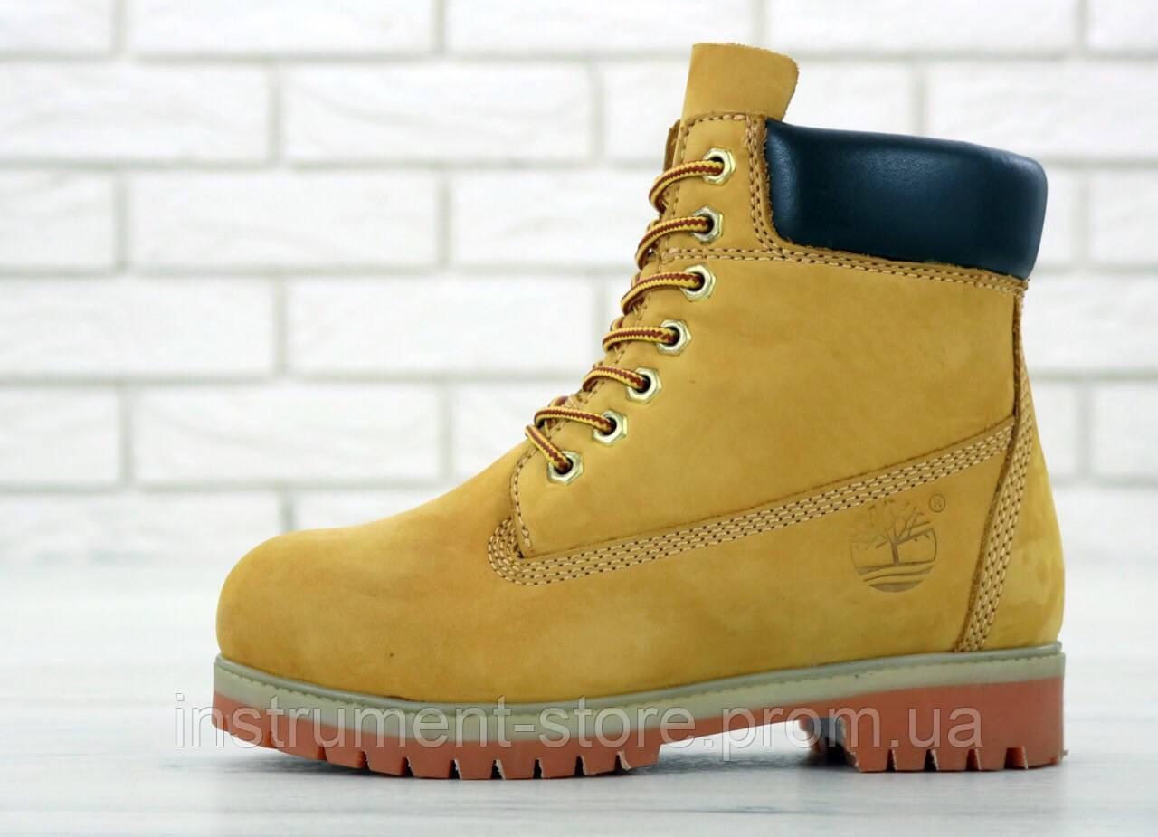 """Женские демисезонные ботинки Timberland 6 inch Boots """"Yellow"""" / Тимберленд, желтые, без меха"""