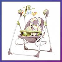 Детская колыбель-качели CARRELLO Nanny 3в1 CRL-0005 Green Tree /1/ MOQ | Колиска-гойдалка Карело Нані