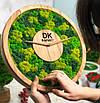 Часы настенные МОХ с мхом диаметр 60 см, фото 3