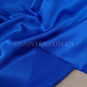 Ткань креп сатин синий электрик